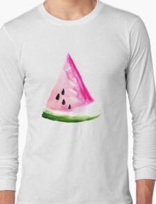 Watercolour Watermelon Long Sleeve T-Shirt