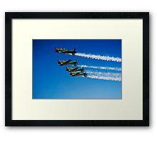 Castrol Flying Lions Harvard Aerobatic Team Framed Print