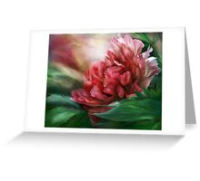 Peony - 50 Shades Of Red Greeting Card