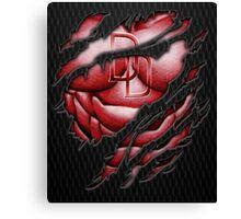 Red Devil torn tee tshirt pencils color art Canvas Print