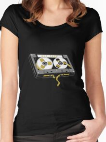 Vintage Old School Cassette Tape Women's Fitted Scoop T-Shirt