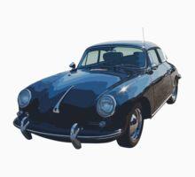 Black 1962  Porsche 356 E Kids Tee
