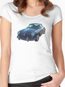 Black 1962  Porsche 356 E Women's Fitted Scoop T-Shirt
