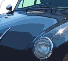 Black 1962  Porsche 356 E Sticker