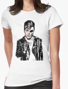 Alex Turner Skull Art Womens Fitted T-Shirt