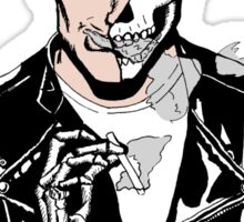 Alex Turner Skull Art Sticker
