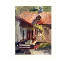 Pushkin's memorial house in Kishinev Art Print