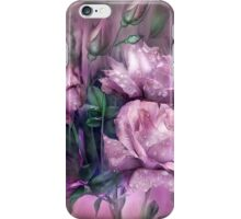 Raindrops On Pink Roses iPhone Case/Skin