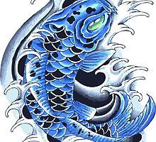Blue Koi  by karnadi39