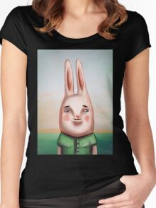 Daily Bunny Women's Fitted Scoop T-Shirt