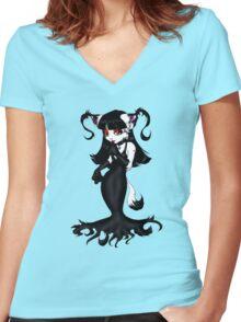 Gothic girl Women's Fitted V-Neck T-Shirt