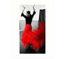 Movement in Red Art Print