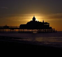 Sunrise At Eastbourne Pier by wiggyofipswich