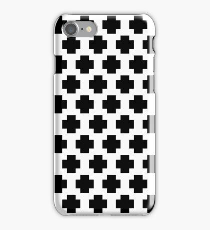 Black and White Simple Cross  iPhone Case/Skin