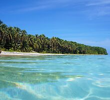 Caribbean island shore with turquoise water by Dam - www.seaphotoart.com