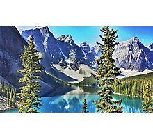 Lake Moraine, Banff Photographic Print