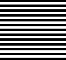 Black and White Simple Stripe by MyArt23