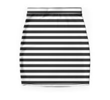 Black and White Simple Stripe Mini Skirt