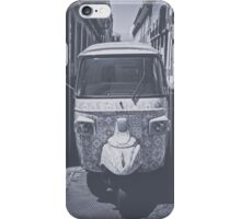 Black and white Tuk Tuk iPhone Case/Skin