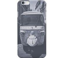 Black and white Tuk Tuk iPhone Case/Skin