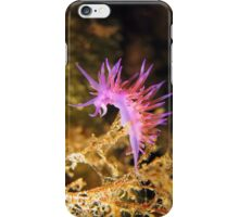 Mediterranean sea slug Flabellina affinis iPhone Case/Skin