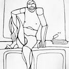 Abstract Croquis of a Nude Male 14 by Bruno Beach