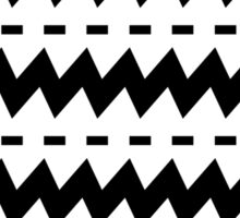 Black and White Chevron Sticker