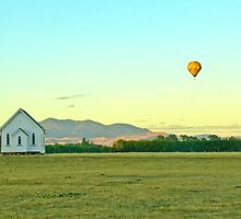 Peaceful surroundings - Hot-air ballooning near Martinborough, New Zealand by Fineli