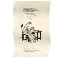 LIttle Ann and Other Poems by Jane and Ann Taylor art Kate Greenaway 1883 0047 Washing and Dressing Poster