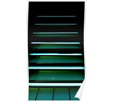 The illuminated Stairs in a Department Store........ Poster