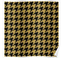 Black and Gold Houndstooth Poster