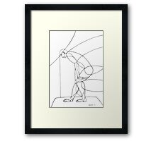 Abstract Male Croquis 01 Framed Print