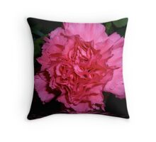 Carnation flooded Throw Pillow