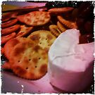 Cheese and crackers by Clare Lawrence