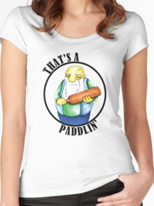 That's a Paddlin' Women's Fitted Scoop T-Shirt