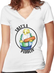 That's a Paddlin' Women's Fitted V-Neck T-Shirt