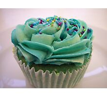 Blue Cupcake in a Museum Cafe Photographic Print
