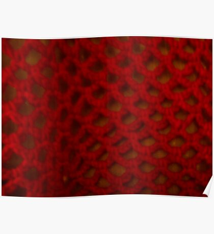 Pretty Crochet Red Poster