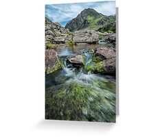 Tryfan Mountain Stream  Greeting Card