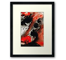 Tempest - Red And Black Painting Framed Print