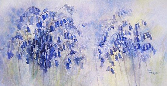 Dusky Bluebells by artbyrachel