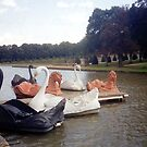 Pleasure craft of Vaux le Vicomte near Melun by BronReid