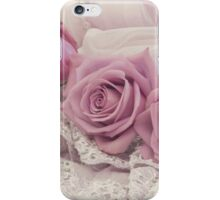 Roses And Beaded Lace  iPhone Case/Skin