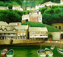 Clovelly 2 - An English Fishing Village  by Simon Groves