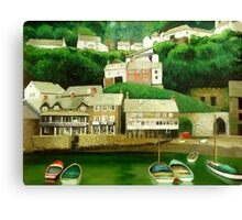 Clovelly 2 - An English Fishing Village  Canvas Print