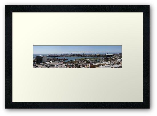 Long Beach California Pano 2005 by Michael  Moss