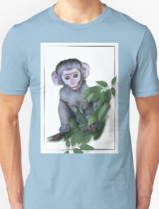 Vervet Monkey baby on white background Unisex T-Shirt