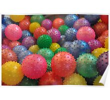 Color Rubber Balls Poster