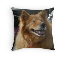 'Cindy Loves to Ride' Throw Pillow