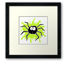 Spider Splat - Green Framed Print